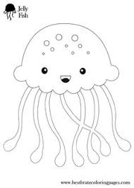 Small Picture Animal Coloring Smiling Jellyfish Coloring Pages Smiling