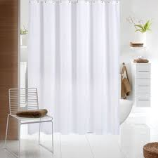 wimaha fabric shower curtain mildew resistant water repellent and antibacterial white made of 100