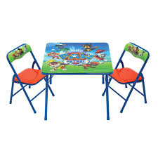 Table Set For Kids Nickelodeon Paw Patrol Activity Table And 2 Chair Set Toysrus