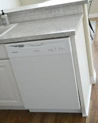 how to secure a dishwasher dishwasher end panel attaching bosch dishwasher to granite countertop