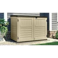 outdoor trash can enclosure plans garbage wood shed free enc
