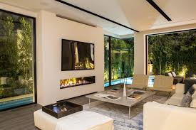 interior view of indoor outdoor 200 fireplace in los angeles ca