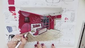 Interior design drawings perspective Outline Lesson Online School Of Sketching By Olga Sorokina Teachable Sketching With Markers For Interior Designers Online School Of