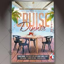 Cruise Dinner Travel Flyer Psd Template