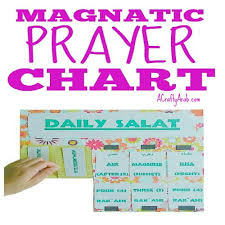 Salat Chart Islamic Daily Prayer Chart Tutorial By A Crafty Arab