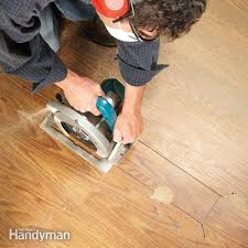 fix damaged laminate flooring