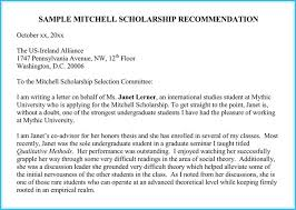 Write A Recommendation Letter For A Student Scholarship Reference And Recommendation Letters Best Samples
