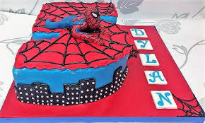 Spiderman Number Cake Aberdeen