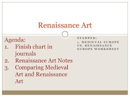 Middle Ages And Renaissance Comparison Chart Renaissance Art