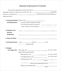 Basic Contract Outline Simple Construction Contract Agreement Templates