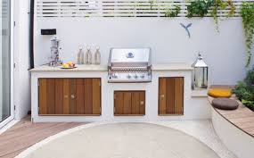 simple outdoor patio kitchen