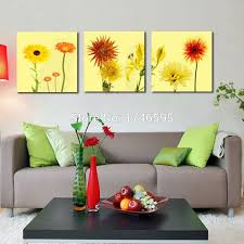 art makes a great gift for any occasion yellow daisy  on gerber daisy canvas wall art with 3pcs big size abstract yellow daisy wall art picture for living room