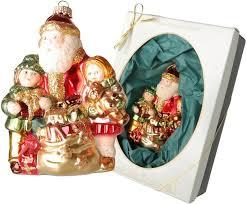 Krebs Glas Lauscha Christbaumschmuck Weihnachtsmann Mit Sack Und Kindern 1 Tlg Mundgeblasen Online Kaufen Otto