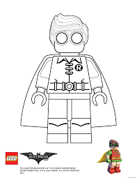 Coloriage Robin Lego Batman Movie Dessin