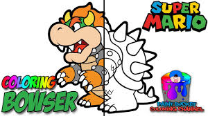Unique Design Paper Mario Coloring Pages Bowser From Nintendo Super