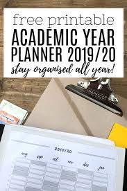 Academic Year Planner 2019 20 Totally Free Printable To