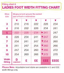 Women S Shoe Width Chart