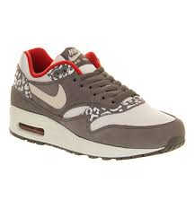 nike air max office. Nike AIR MAX 1 (L) WHITE, GREY SNOW LEOPARD Shoes - Trainers Office Air Max D
