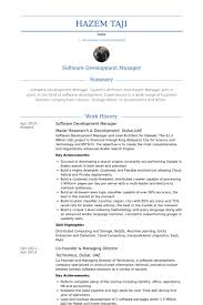 Software Development Manager Resume samples