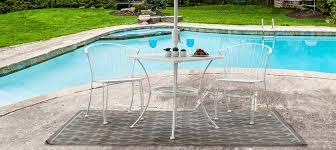 Pincecrest 3 piece wrought iron patio furniture bistro set by