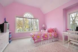 Delightful Light Pink Color Shades For Girl Bedroom Decorating