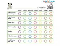 Free Potty Training Charts Lovetoknow