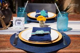 Nautical Table Settings Party Ahoy Its A Boy Nautical Baby Shower Creative Juice