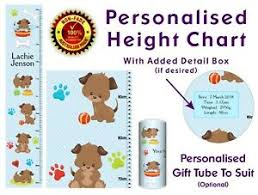 Puppy Height Chart Details About Growth Height Chart Wall Ruler Decor Gift Cute Puppies Puppy Dogs In Blue