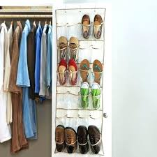 closet door shoe rack pocket over the with built in organizer ideas clear or