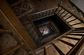 spiral wooden square staircase