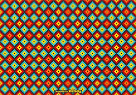 Mexican Pattern Mesmerizing Free Vector Mexican Huichol Pattern Download Free Vector Art