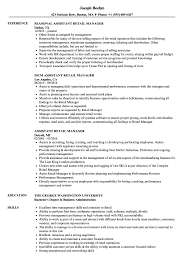 Retail Manager Resume Example Assistant Retail Manager Resume Samples Velvet Jobs