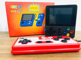 Máy chơi game cầm tay mini 4 nút Sup 500 in 1 phiên bản mới nhất năm 2020  [ĐƯỢC KIỂM HÀNG] 35358514 - 35358514   Máy Chơi Game