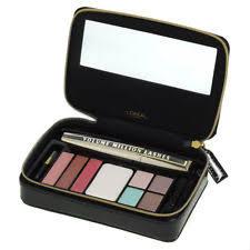 l oreal makeup palette gift set with eyeshadows lipsticks black mascara