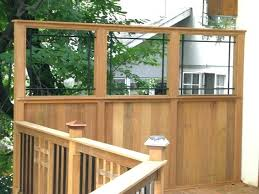 deck privacy wall ideas for mission style with custom view walls craftsman outdoor