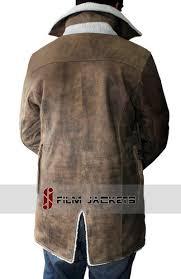 men s brown winter coat brown shearling leather jacket