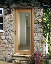 Prefinished Pattern 10 style External Oak Door, Clear Double Glazing,  modern styling at its best.