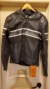 bilt perforated leather motorcycle jacket