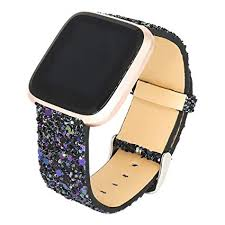 Amazon Com For Fitbit Versa Watch Band Quick Release Bling