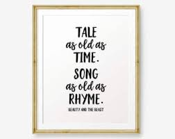 Beauty And The Beast Song Quotes Best of Beauty Beast Quote Etsy