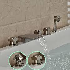 old bathtub faucets of koko led waterfall wall mount bathtub filler faucet