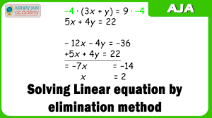 10 solving linear equation by elimination method