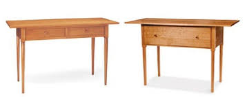 modern shaker furniture. Two-Drawer Shaker Work Table ($962.50) And Sideboard ($1,187.50) By Workshops Modern Furniture F