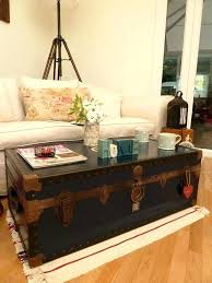 storage box coffee table luggage coffee table vintage retro steamer trunk old luggage quirky coffee table