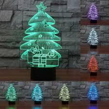 Christmas Tree With Changing Lights Amazon Com 3d Christmas Tree Night Light Table Desk Optical