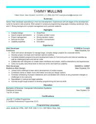 Best Web Developer Resume Example Livecareer
