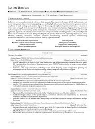 Management Consulting Resume Resume Sample