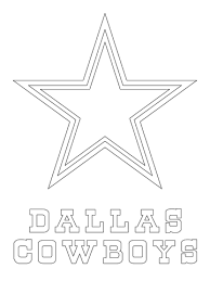 Small Picture Dallas Cowboys Logo coloring page Free Printable Coloring Pages
