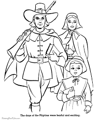 Small Picture Pilgrim Coloring Sheets 003