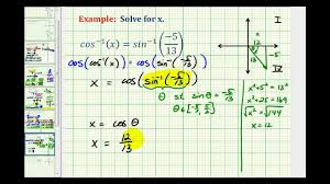 ex 2 solve a trig equation contain inverse trig functions